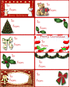 merry christmas name tags