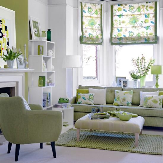 green-living-room-