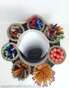 DIY-school-supply-carousel-lazy-susan