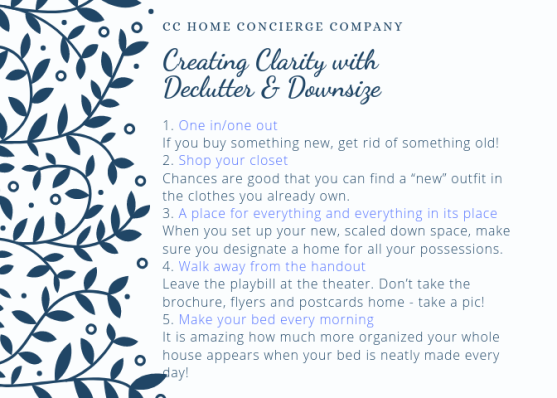 fast five -declutter-downsize