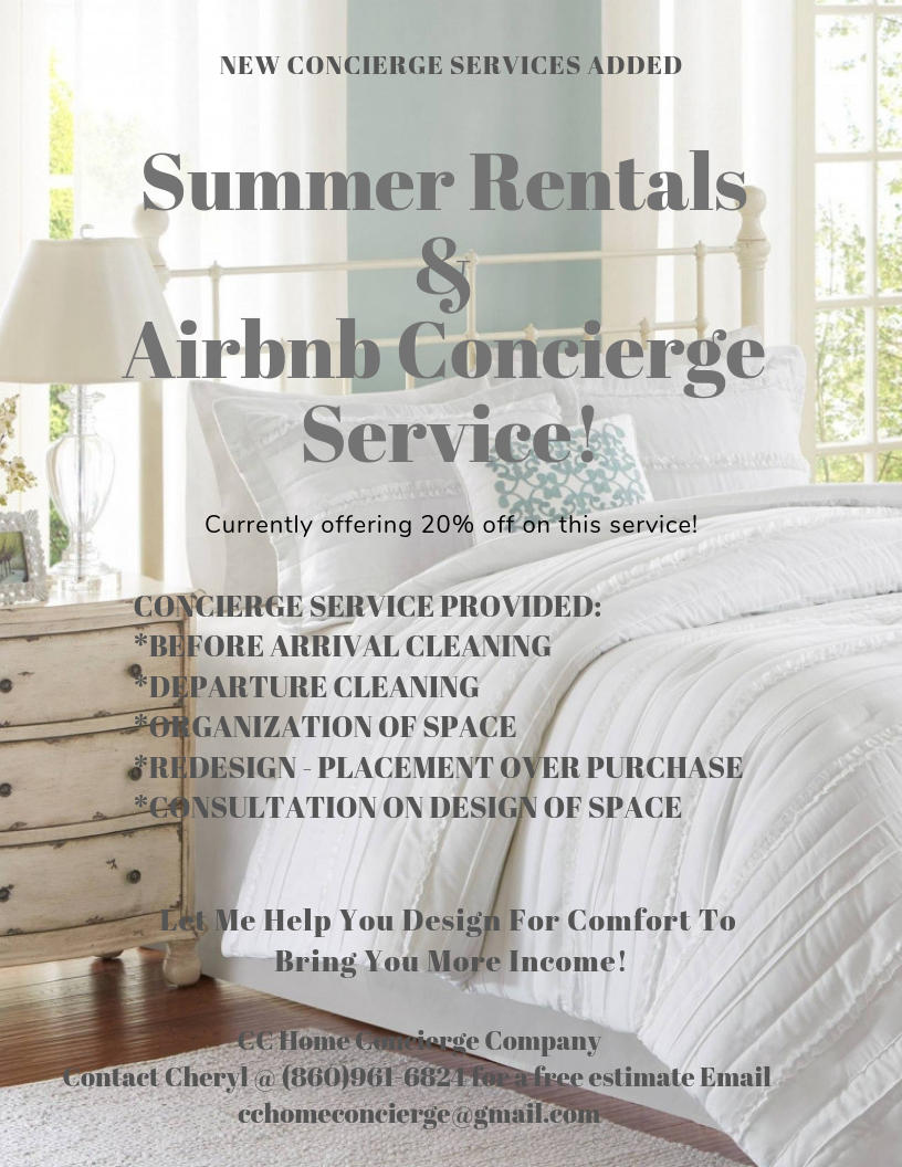 Summer rental Air bnb cleaning services