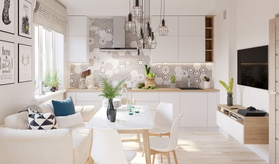 White Wood Modern Apartment