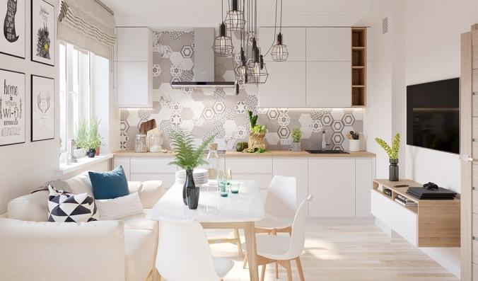 White Wood Modern Apartment