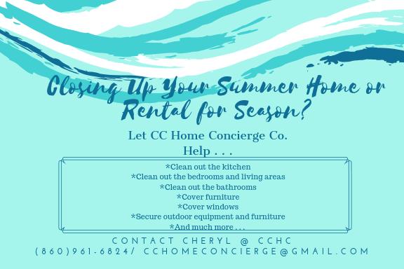Closing up summer-rental home