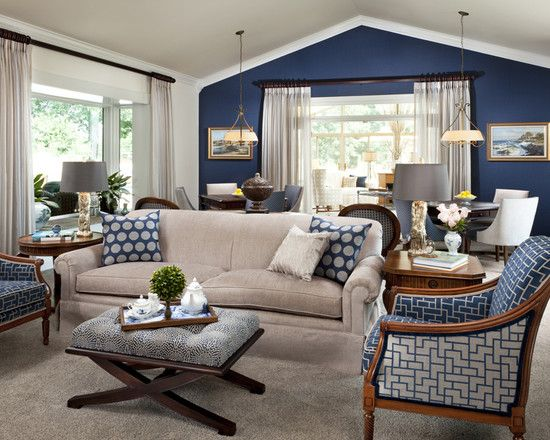 navy accent interiors