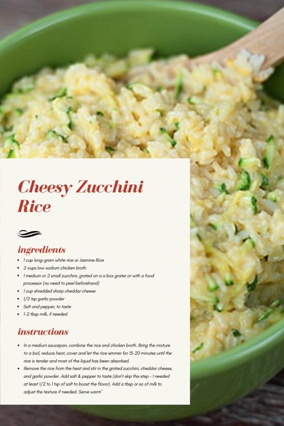 Cheesy Zucchini Rice Recipe