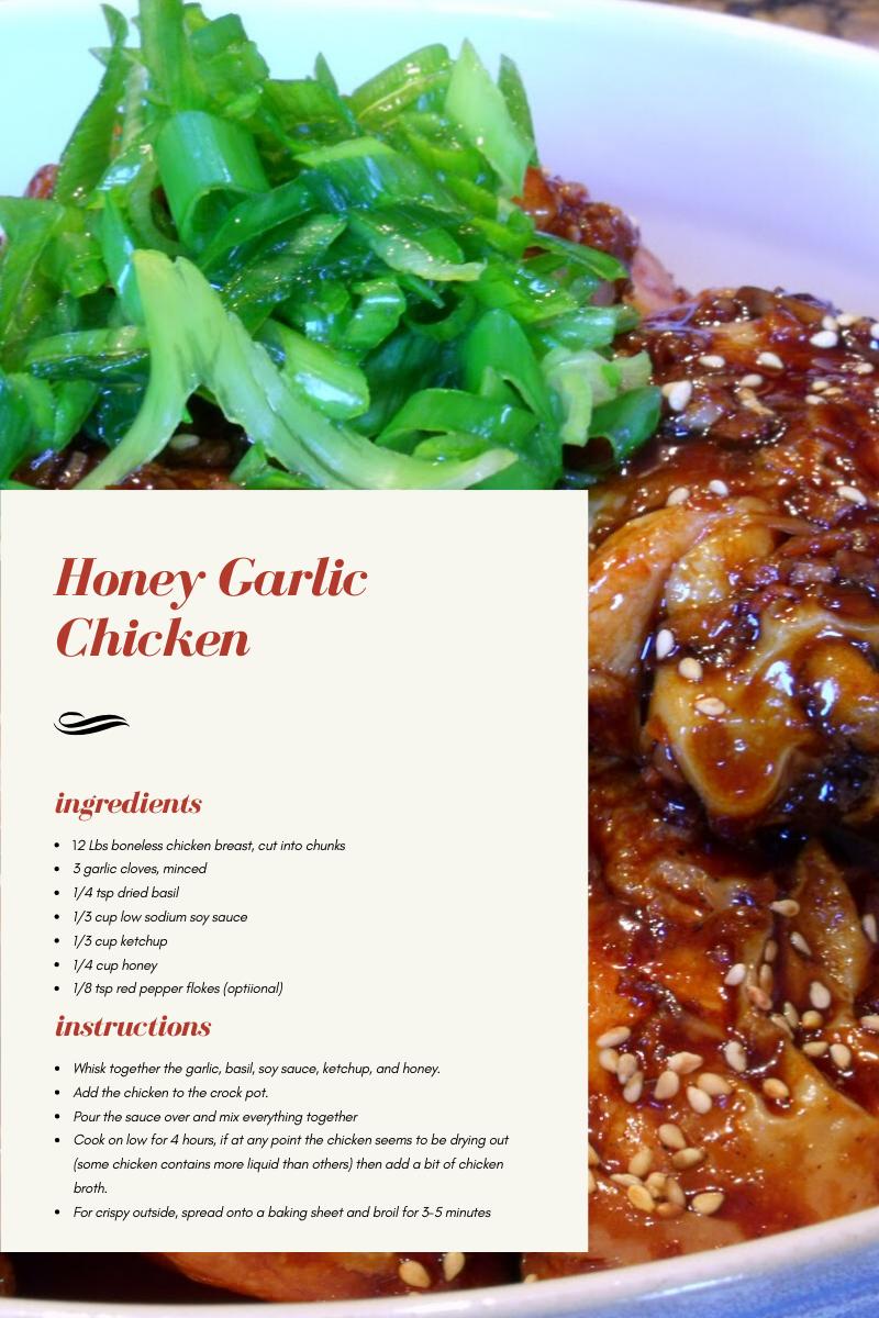 Honey Garlic Chicken_Recipe