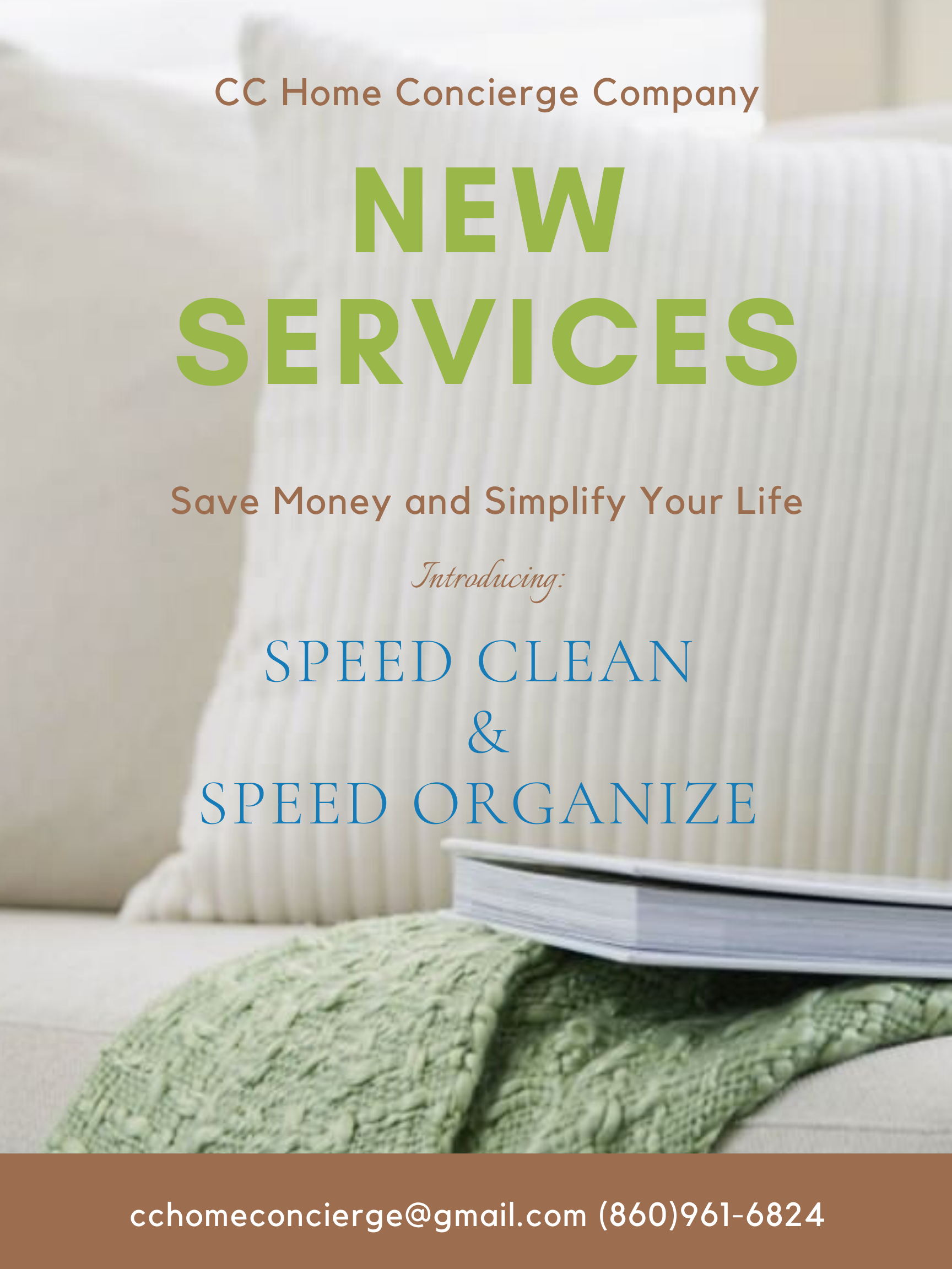 Speed Clean and Speed Organize Flyer